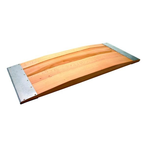 Auffahrbohle aus Hartholz DIN 14854 1000x400x50 mm