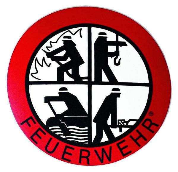 Aufkleber mit Feuerwehr-Signet Ø 90 mm innen