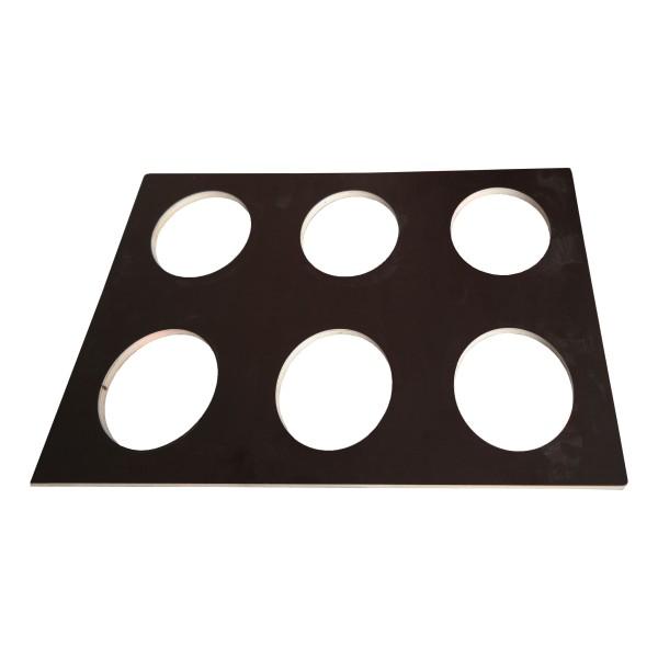 gfd® Reduzierplatte für Flaschenbox/ Bohrung Ø120m
