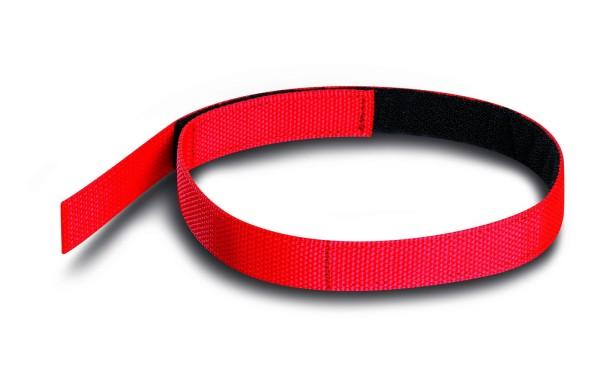 PAX Klettband für Schlauchpaket rot