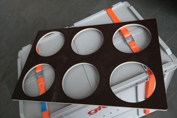 gfd® Reduzierplatte für Flaschenbox/ Bohrung Ø145m