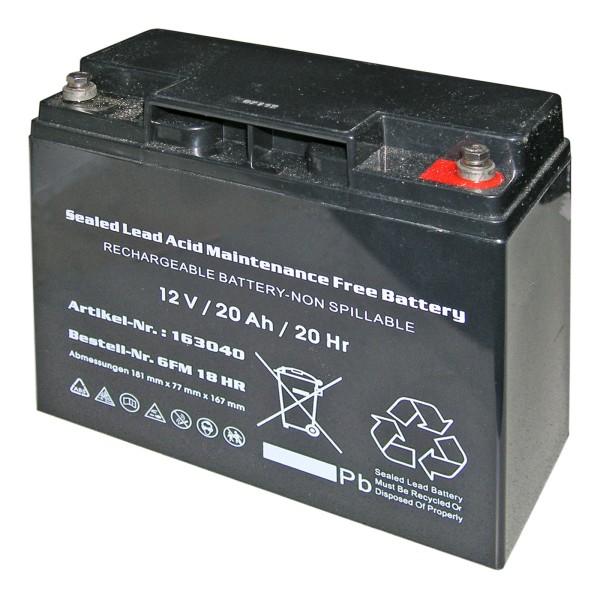 ENDRESS Starterbatterie 12 V/20 Ah